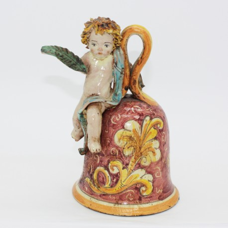 Campana in ceramica con putto Francesco Scarlatella