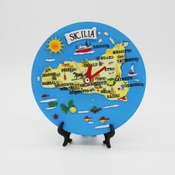 Orologio tondo con Sicilia