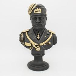 Busto di Mussolini grande in lava